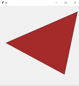 tkinter generate triangle