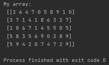 Numpy random integers randint