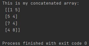 concatenated array in Numpy