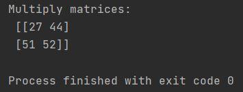 matrix multiplication in Numpy