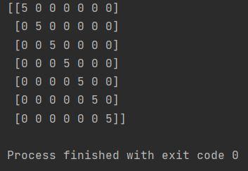 numpy diagonal array python