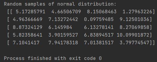 numpy random samples of normal distribution