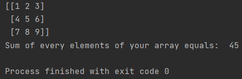 numpy sum of array python