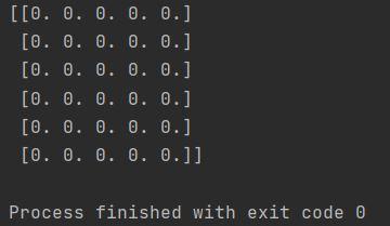 numpy zeros array