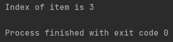 python index of item