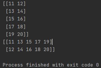 python numpy transpose array