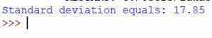 standard deviation numpy
