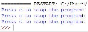 stop the program python