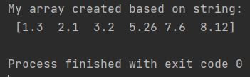 Numpy array from string