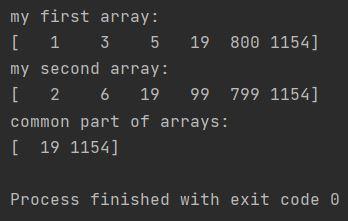 Numpy common part of arrays