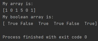 Numpy covert array to boolean