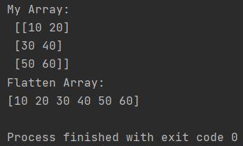 Numpy flat array