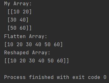 Numpy flatten array