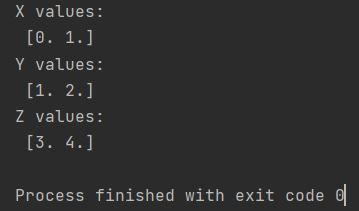Numpy meshgrid 3 arrays x y z