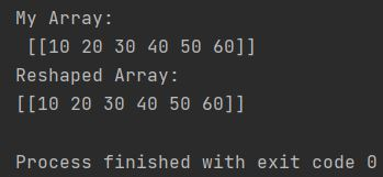Numpy reshape one row flatten array