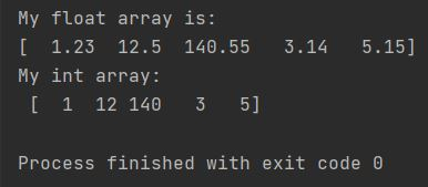 numpy convert array from float to int