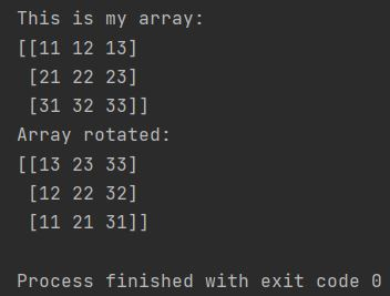 Numpy how to rotate array