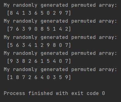 Numpy random permute